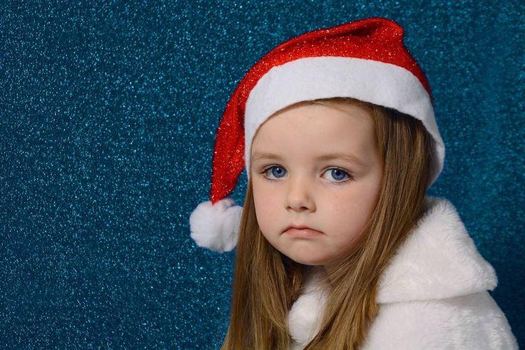 Snow Christmas with shinny blue. Maddie