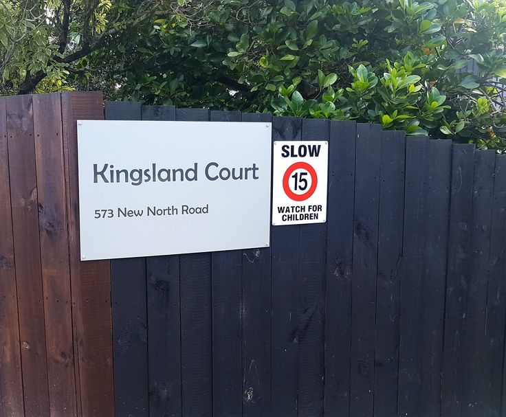 ACM fence sign for Kingsland Court by Speedy Signs Newton