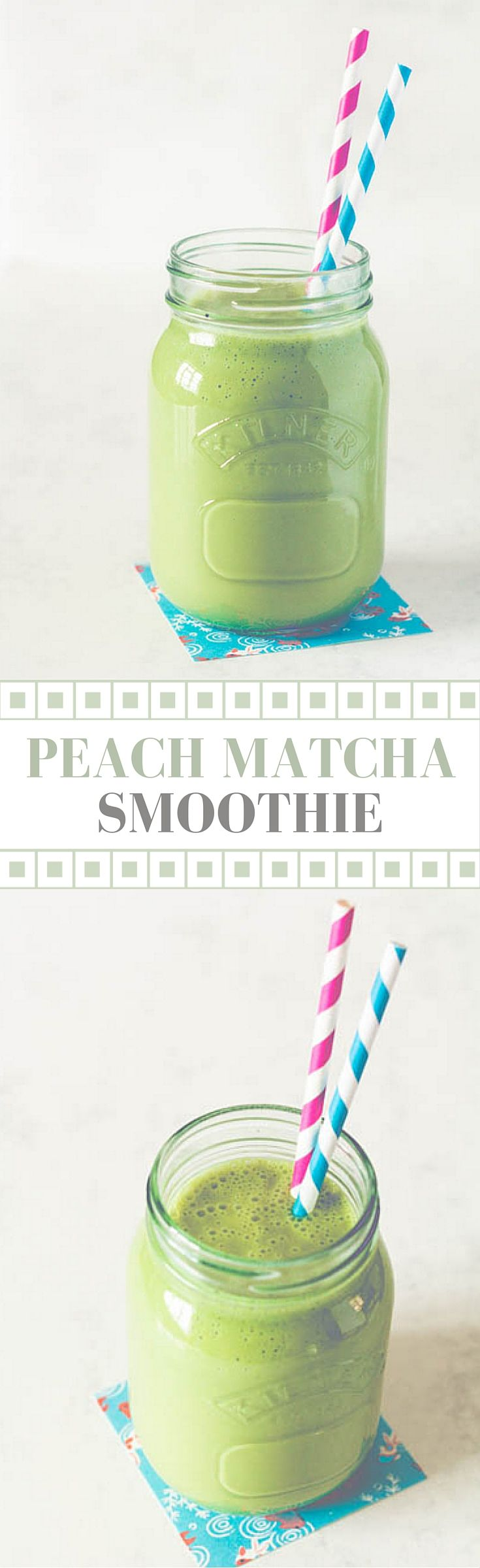 Peach matcha smoothie recipes from a pantry