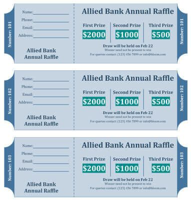 Cash Prize Raffle Ticket Template