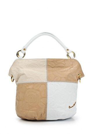 412a28b3cf0f Женская сумка от Braccialini. Аксессуар создан из натуральной кожи с тисненым  цветочным узором. Особенности: внутренняя отделка из прочного текстил…