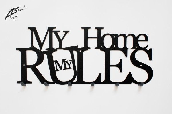 Wieszak na ubrania My Home my rules