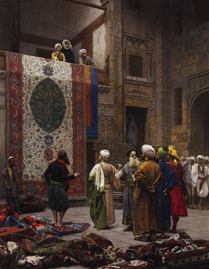 The Carpet Merchant -Jean-Léon Gerome (French, 1824 CE Vésoul–1904 CE Paris) | Oil on canvas