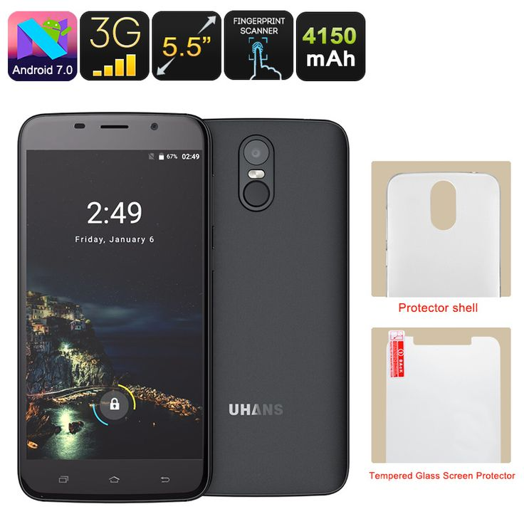 Uhans A6 Android Phone - Android 7.0, Quad-Core CPU, 2GB RAM, Dual-IMEI, 5.5 Inch HD Display, Google Play, 4150mAh (Black) - The Uhans A6 is a cheap Android phone that runs on Android 7.0. With its 5.5-Inch IPS display, it treats you to stunning visuals.