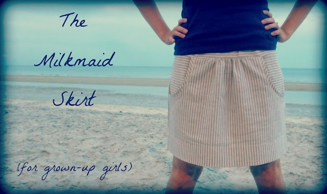 crafterhours: The Milkmaid Skirt for Grown-Up Girls: A Tutorial: Skirts Tutorials, Grown Up Girls, Summer Skirts, Crafterhour, Skirts Patterns, Clothing Tutorials, Skirts With Pockets Tutorials, Grownup Girls, Milkmaid Skirts