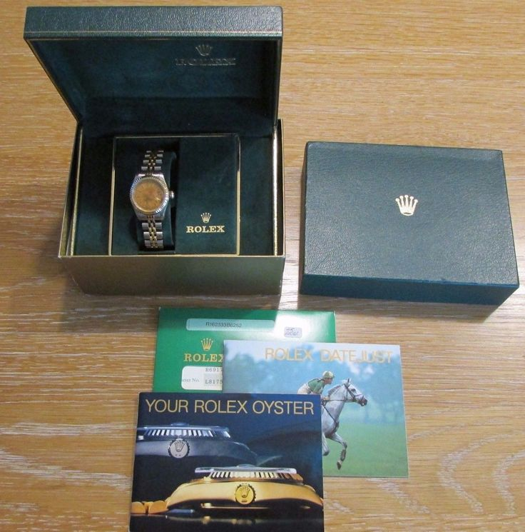 #Forsale Womens 18k Stainless #Rolex Datejust 6917 Box Papers Rust Damage - Price @$1,030.00