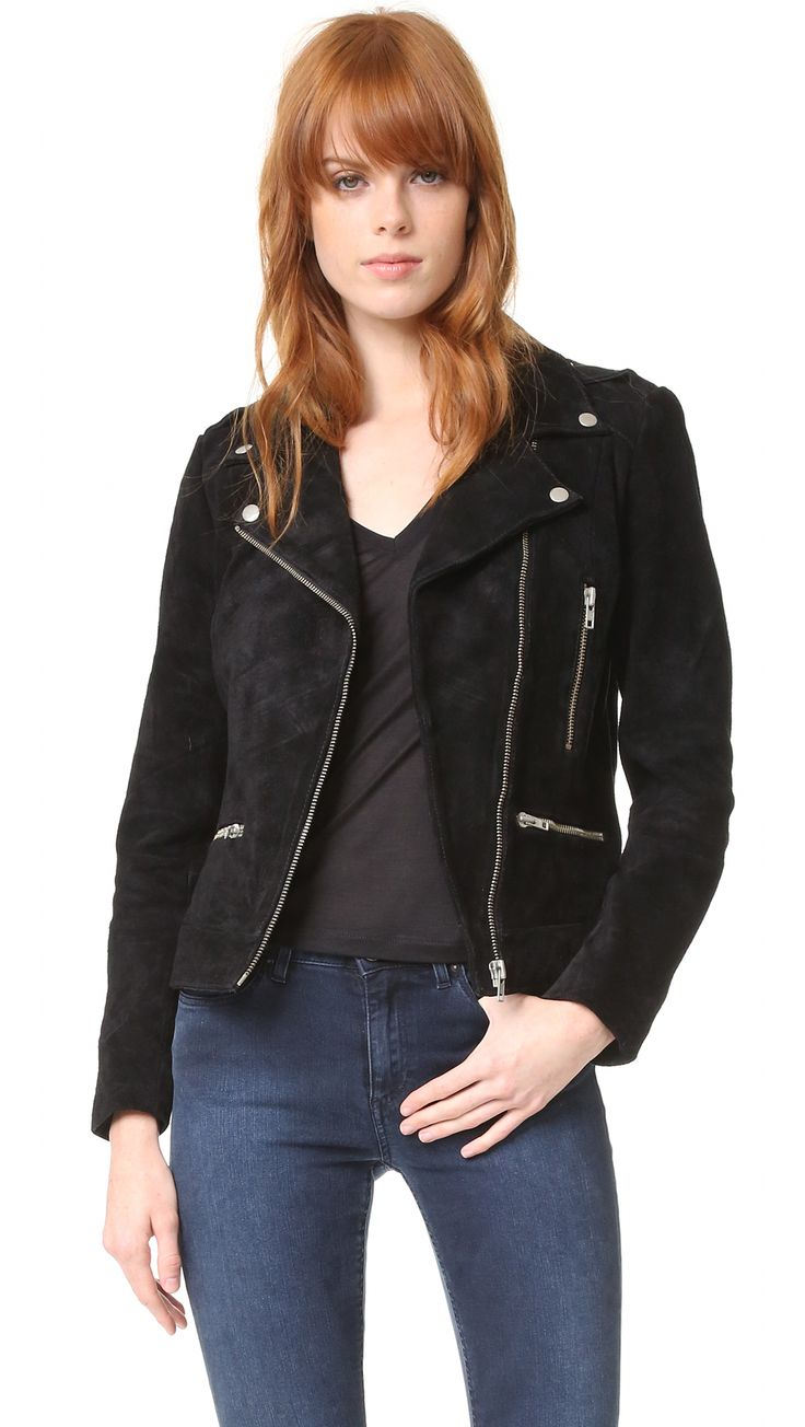 ¡Cómpralo ya!. Just Female Direct Suede Jacket - Black. A brushed suede Just Female moto jacket with classic details. Exposed zips secure the placket and pockets, and snaps secure the epaulets and lapels. Lined. Fabric: Suede. Shell: 100% cow leather. Lining: 100% polyester. Leather clean. Imported, India. Measurements Length: 22in / 56cm, from shoulder Measurements from size S. Available sizes: XXS , chaquetadecuero, polipiel, biker, ante, antelina, chupa, decuero, leather, suede…