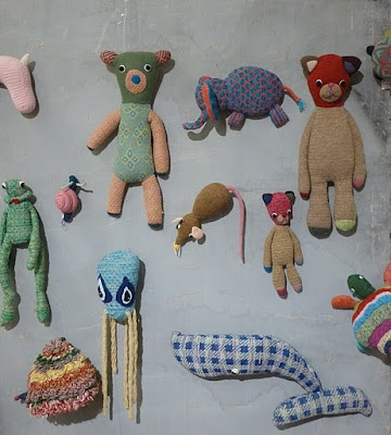A whole wall full of Teenytini toys at Playtime Paris