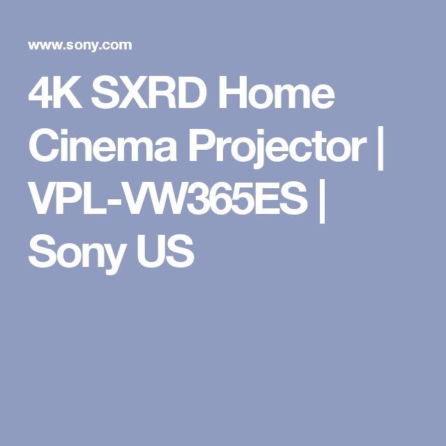 4K SXRD Home Cinema Projector   VPL-VW365ES   Sony US