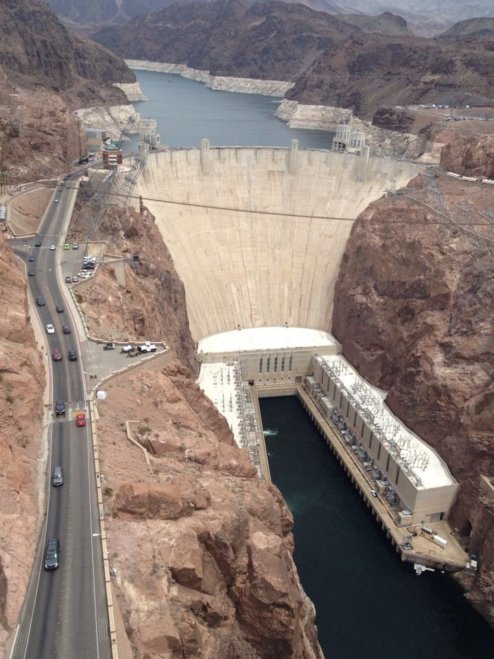 Hoover Dam, Nevada / Arizona border, USA.