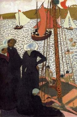 Regatta at Perros, 1892 by Maurice Denis (French 1870-1943)