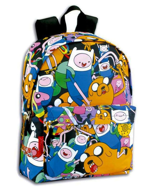 Mochila Personajes Hora de Aventuras Preciosa mochila con la imagen de los protagonistas de Hora de Aventuras, con medida de 30x42x14cm