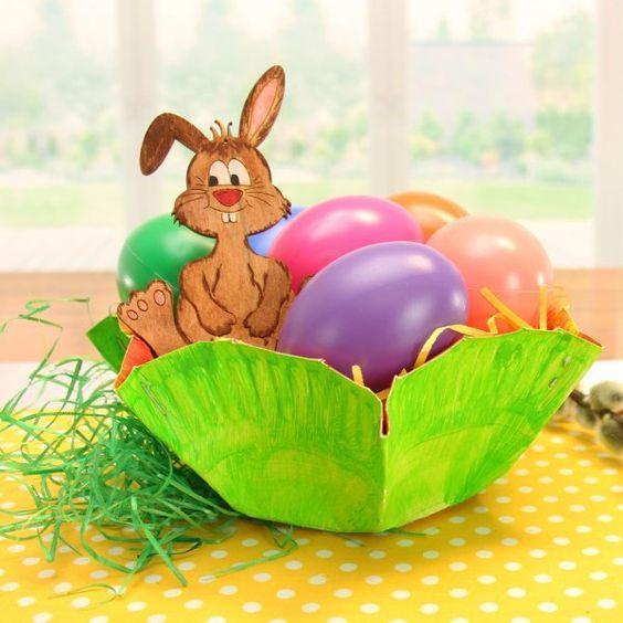 Osternest Basteln Mit Kleinkindern Ostern Osterkörbchen