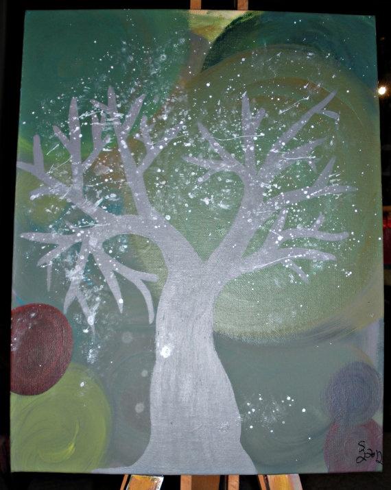 The Peace Tree original artwork by LittleShopofArt on Etsy, $30.00