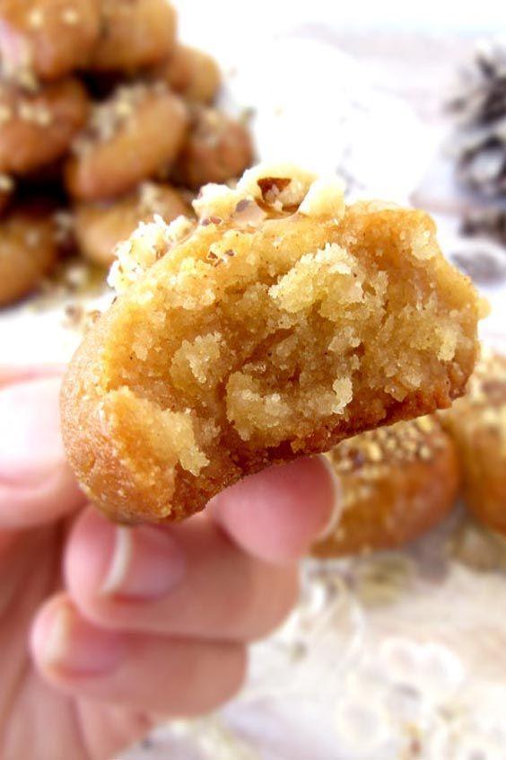 Traditional Greek Honey Cookies Melomakarona
