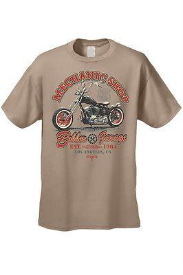 Men's Biker T-Shirt Motorcycle Mechanic Shop Bobber Garage L.A. S-XL 2X 3X 4X 5X