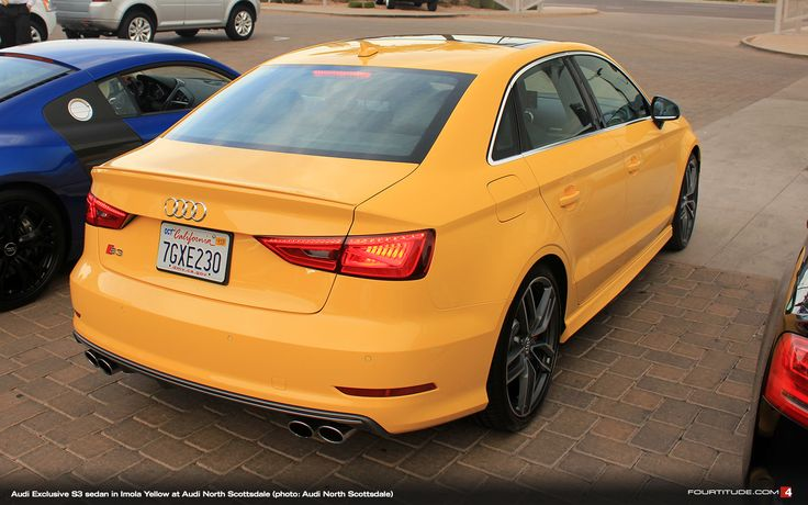 Audi Exclusive Imola Yellow S3 Sedan Photo Brian