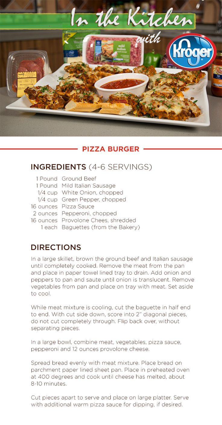 Learn How To Make A Pizza Burger On This Week's In The Kitchen With Kroger: