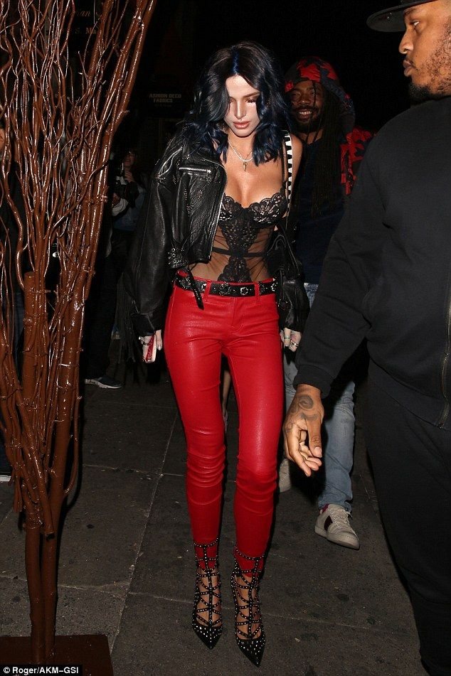 Zip into skinny red leather pants by L'Agence #DailyMail Click 'Visit' to buy now