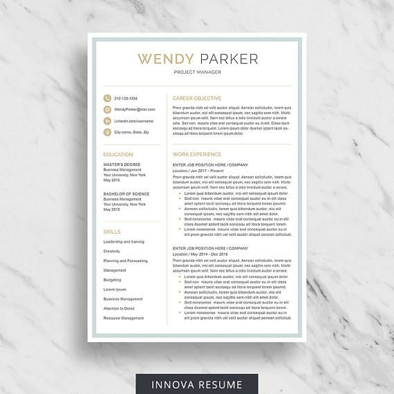 Resume Reference Page Template 23 Best Resume Templates  Cv Templates Images On Pinterest  Cv