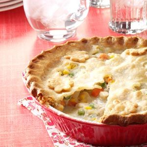Chicken Potpie Recipe from Taste of Home -- shared by Karen Johnson of Bakersfield, California