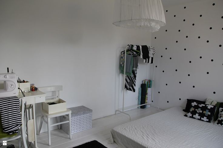 styl Skandynawski - zdjęcie od Agnieszka Kijowska - Styl Skandynawski - Agnieszka Kijowska, black & white, scandinavian design, dots, workspace ideas, diy