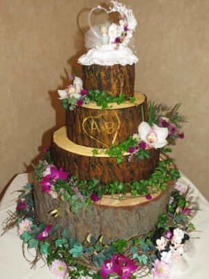how to make wedding cake look like tree bark a beautiful woodsy themed wedding cake made with fondant 16039