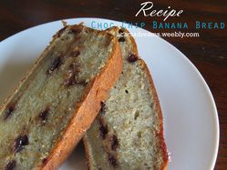 Choc Chip Banana Bread is the latest recipe up on the blog, check it out!