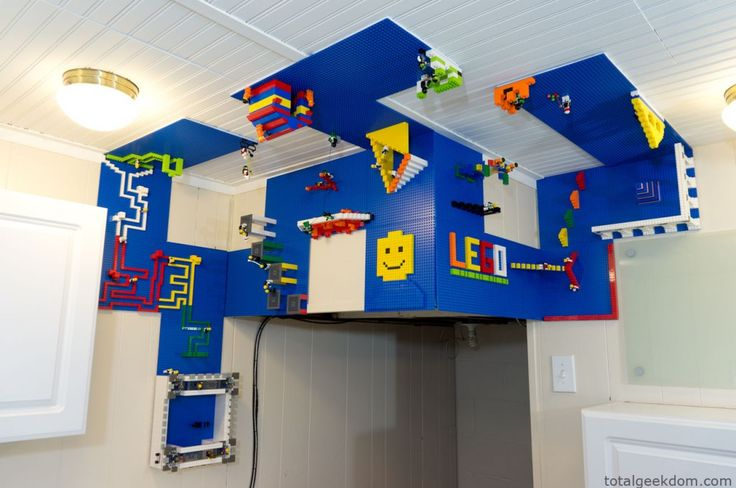 Lego Wall and Ceiling Build Area: Playrooms Ideas, Kids Bedrooms, Lego Rooms, For Kids, Boys Rooms, Boys Bedrooms Lego, Lego Building, Bedrooms Ideas, Kids Rooms