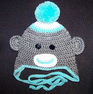 brownfrances' Crochet Sock Monkey Hat