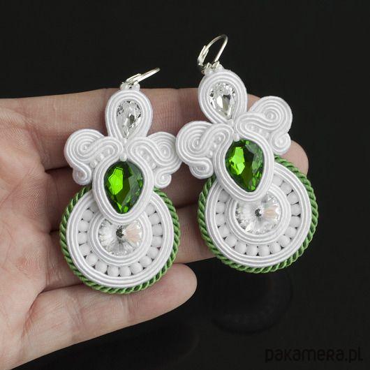 Ślub - biżuteria-Ślubne kolczyki sutasz #330