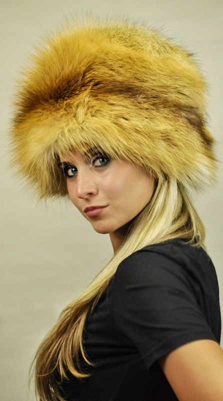 Cappello volpe golden  www.amifur.it