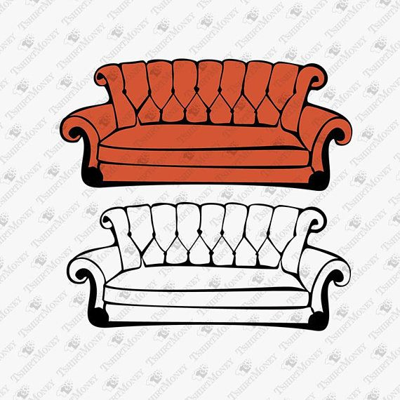 Friends Show Sofa Svg Friends Show Couch Svg Couch Sofa