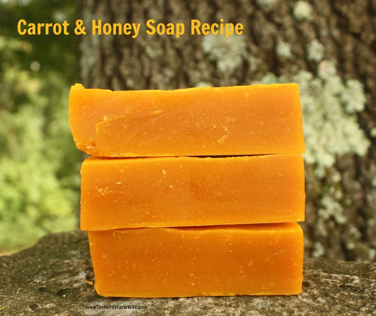 Carrot and honey bar.  Good for acne and mature skin.