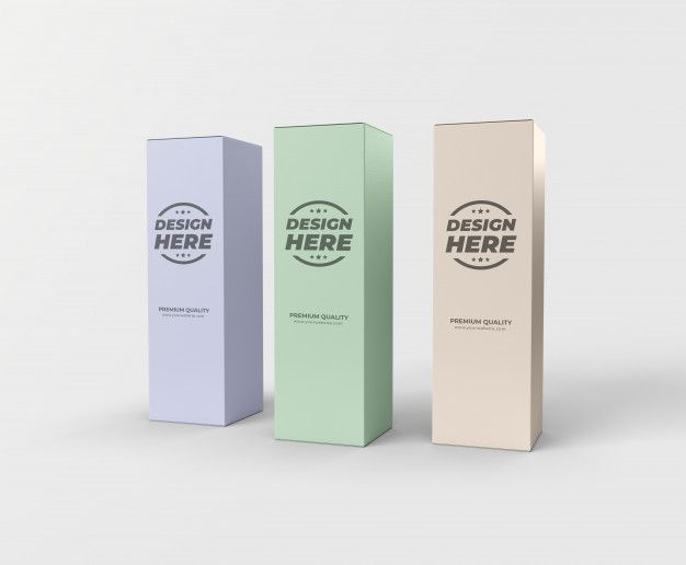 Download Tall Box Package Mockup Premium Psd Freepik Psd 3d Box Box Mock Up Branding Carton Clean Closed Container Cosmetic Design Empty Front