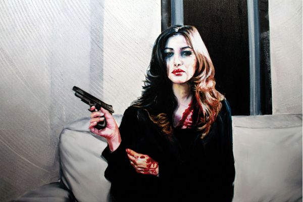 Untitled   Oil on Canvas   (Ditail)   2010   Afshin Pirhashemi