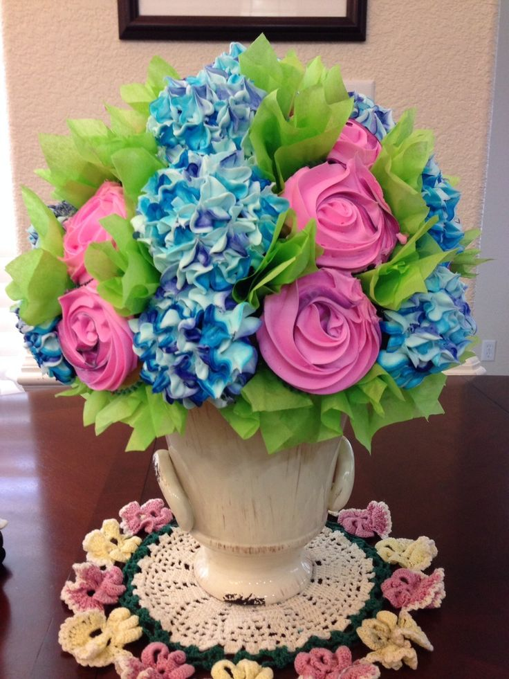 Cupcake Flower Bouquet For Mothers Day on Cake Central