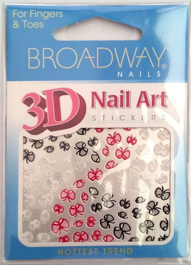 Broadway Nails 3D Nail Art Stickers For Fingers & Toes - Multi-Color Butterflies