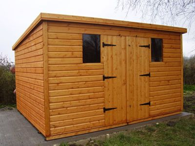 12 X 16 Flat Roof Shed