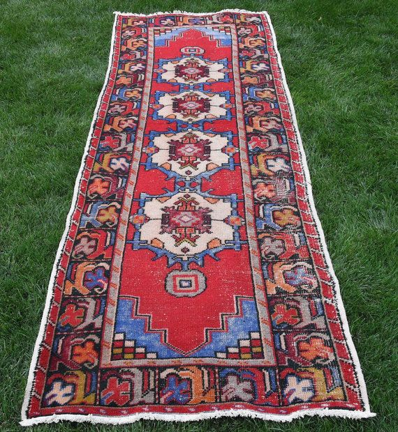 Hi there!  Welcome to VinArtStore!  Oushak runner rug vintage hand knotted turkish oushak wool corridor rug coureur tapis hall way rug multi color runner tappeto corridore turquemotif  This is a large sized vintage anatolian Kilim runner rug, which was made during 1950s in tribal villages in Anatolia. Super Fast Delivery! I will send the rug with FedEx, You will receive your rug within 3 - 5 business days. You can return the rug if you find any defects after you receive it (please read our…