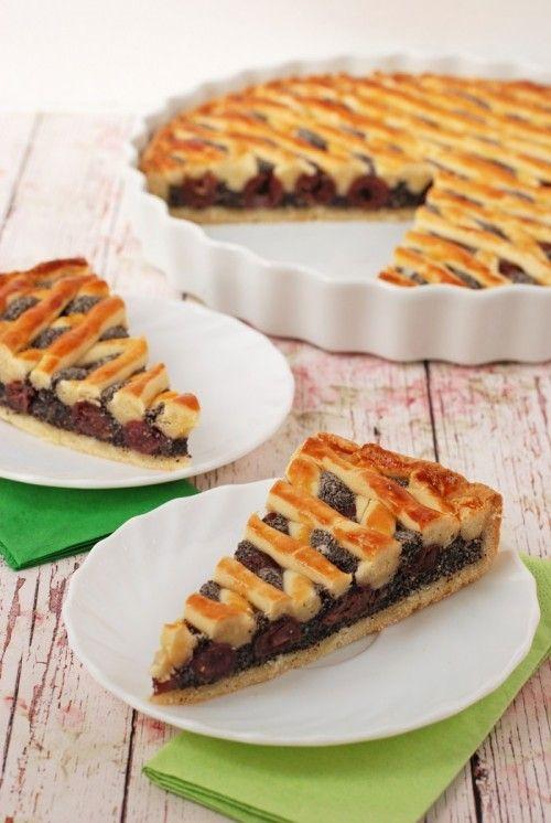 Meggyes-mákos pite recept