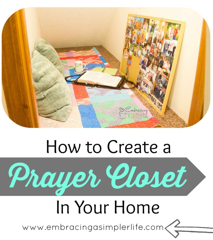 how to create a prayer closet in your home