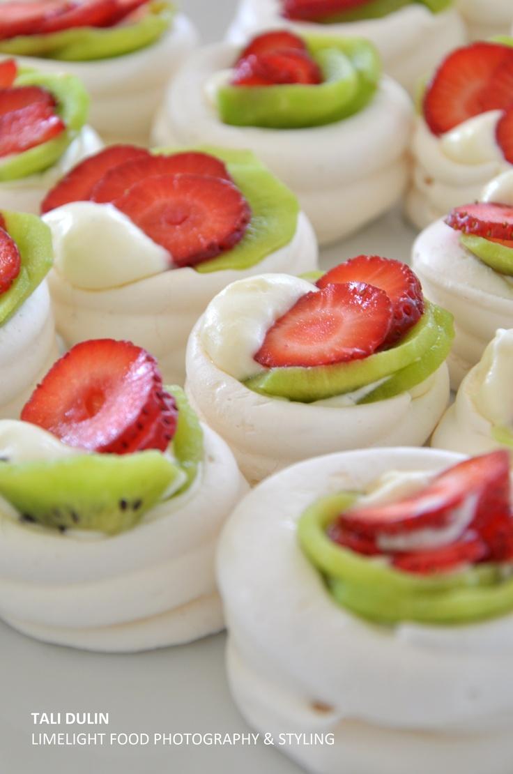 Strawberry Kiwi Pavlovas Recipe — Dishmaps