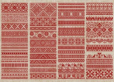 Decorative Borders - 50 Original Cross-Stitch Designs - PDF Booklet. $15.00, via Etsy.