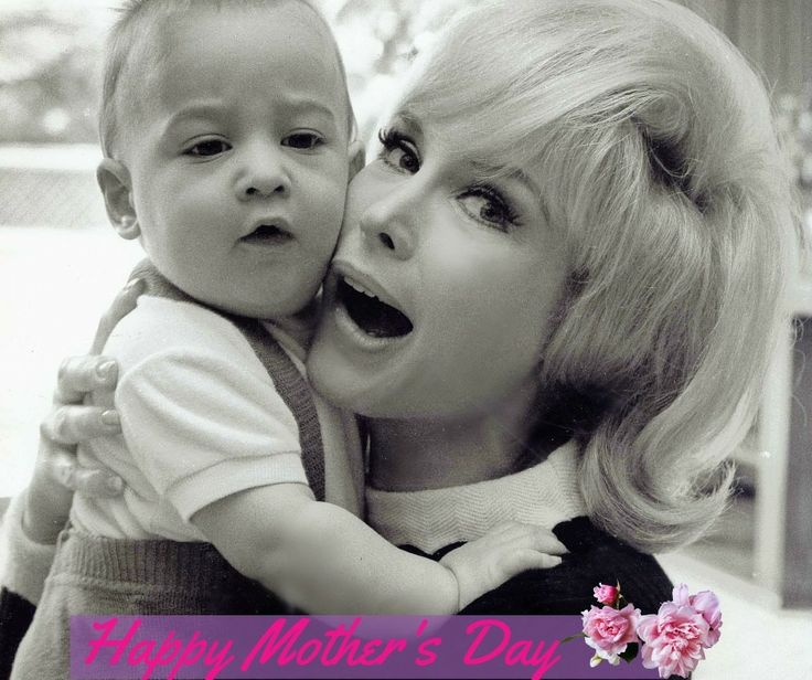 Barbara Eden and Matthew Ansara. Happy Mother's Day!