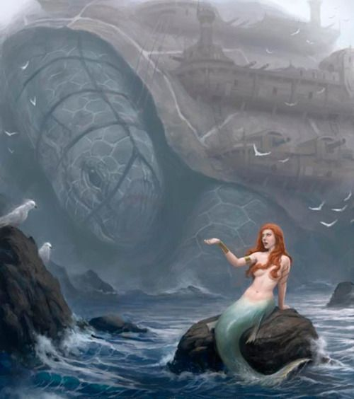 she sat undeterred by the beast. weaves lapped at the rock ...