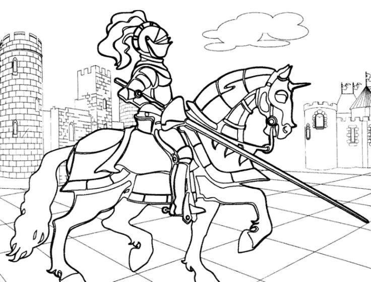 Die besten 25 Ausmalbilder ritter Ideen auf Pinterest  Ritter
