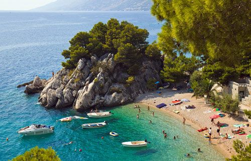 Where to go on holiday in August   Brela, Croatia   http://www.weather2travel.com/holidays/where-to-go-on-holiday-in-august-for-the-best-hot-and-sunny-weather.php
