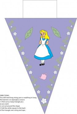Wonderland Banner 1, Alice In Wonderland, Party Decorations - Free Printable Ideas from Family Shoppingbag.com