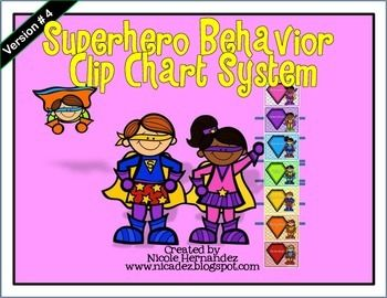 Superhero Behavior Clip Chart System-Role Model (Version 4)